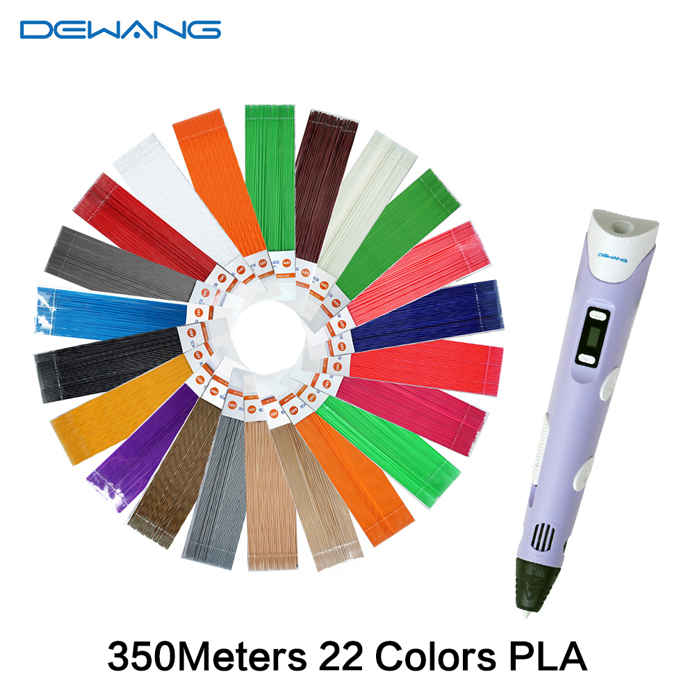 DEWANG Scribble Pen 3D Pens 350M PLA Filament 3D Printer Birthday Gift Caneta 3D Printing Pen for School Gadget Lapiz 3D Pencil new arrival 3d printing pen with 100m 10 color or 200 meter 20 color plastic pla filaments 3 d printer drawing pens for kid gift