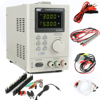 QJE QJ3005P Laboratory Adjustable LCD Digital Linear Programmable DC Power Supply 30V 5A USB Remote Control Via PC + DC JACK Set
