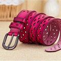 New Leather Hollow Out Breathable Leather Belt Female Fashion Leather Belts For Women Ms Joker Jeans Belt [Himunu]