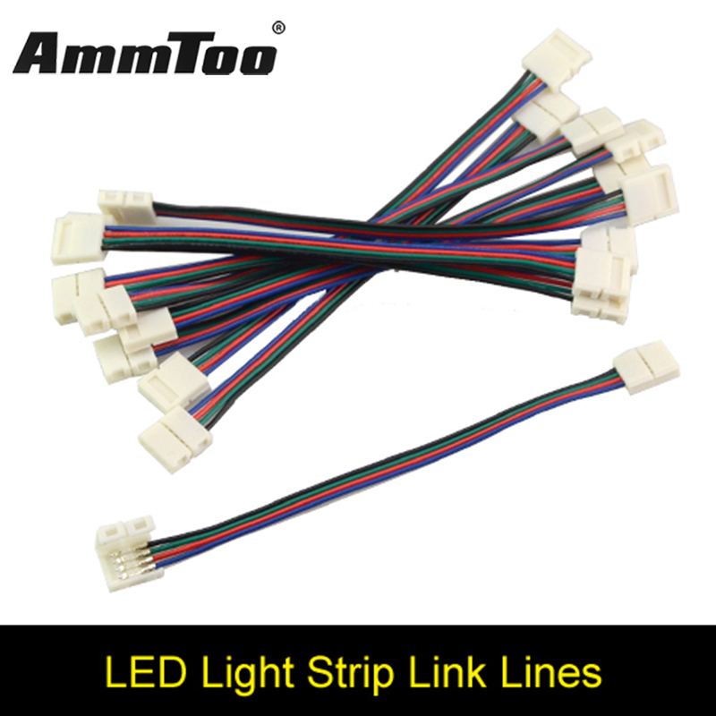 4pin Rgb Female Led Strip Double Connector Clip Cable Led