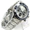 39mm PARNIS grau zifferblatt sapphire kristall solide voll Chronograph quarz herren uhr Luxus Pilot Sapphire Kristall Armbanduhr männer