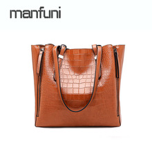 2018 Luxury Brand Women Leather Handbag Alligator Women's Shoulder Bags