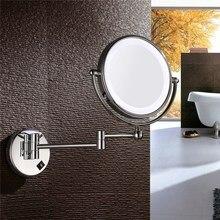 Зеркало с подсветкой Ванна настенное зеркало светодио дный косметический 5X 7X 10X увеличение телескопические макияж 2-лицо Ванная комната зеркало