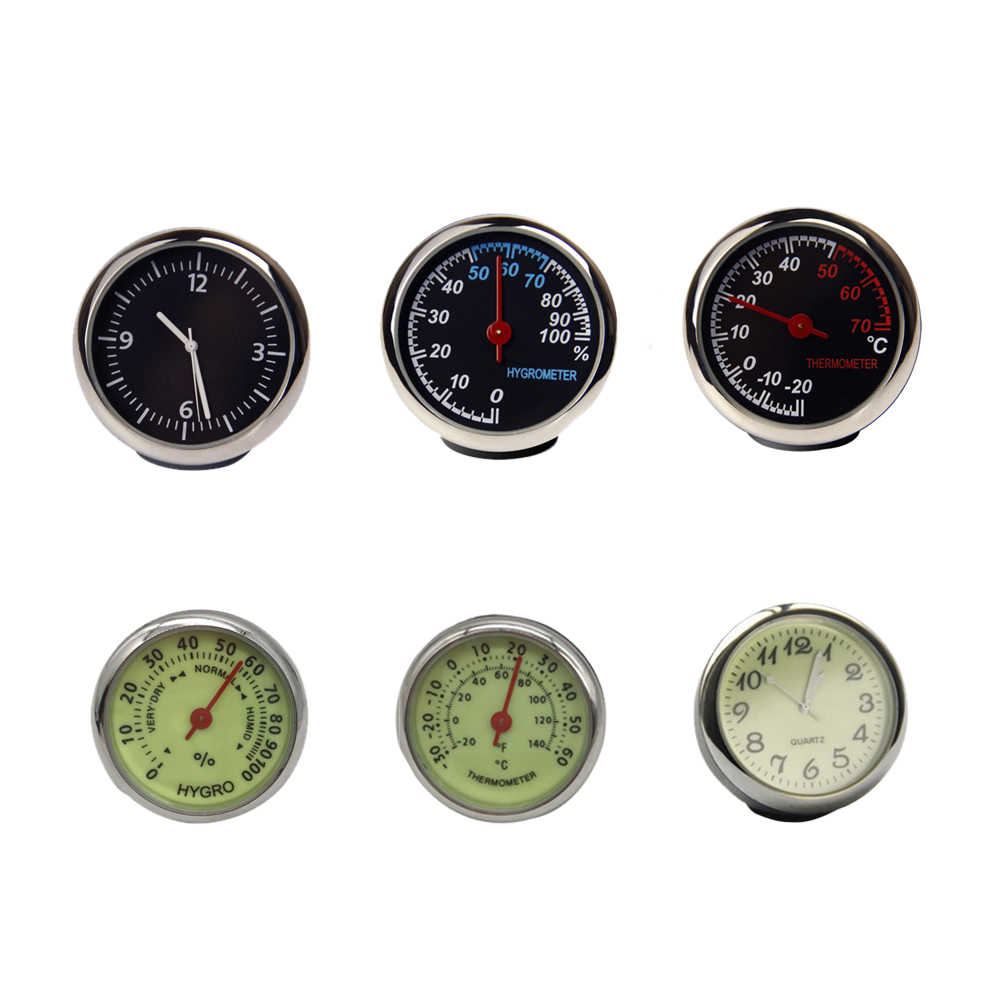 Auto Digital Clock Mini Car Automotive Watch Thermometer Hygrometer Dashboard Decoration Ornament Clock In Car Accessories