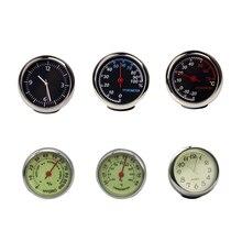 Auto Digital Clock Mini Car Automotive Watch Thermometer Hyg