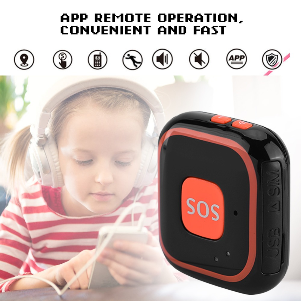Mini GPS Tracker Locator Kids Personal SOS Alarm APP Tracking Black Blue цена