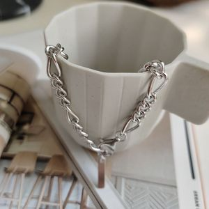 Image 2 - Silvology 925 Sterling Silver Crude Chain Bracelets Texture Temperament Elegant Korea Bracelets For Women Friendship Jewelry
