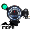 MOFE 80MM Original Logo Green Shift Light + White LED + Black LCD Digital Speedometer With MPH Lamp