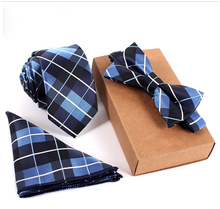 3PCS Slim Tie Set – Tie, Bow Tie and Handkerchief