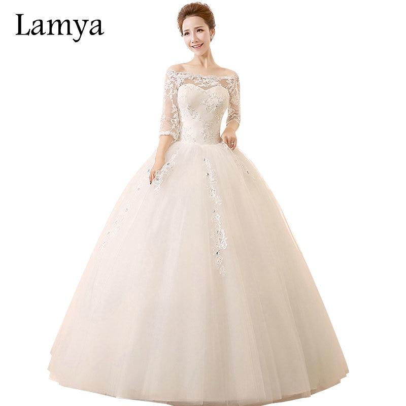 Online Get Cheap Quarter Length Sleeve Wedding Dresses -Aliexpress ...