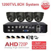 CCTV 8CH 1080N HDMI DVR 1200TVL AHD 720P 4CH Security Dome Camera System IR Color Video Surveillance DIY KIT P2P Mobile View