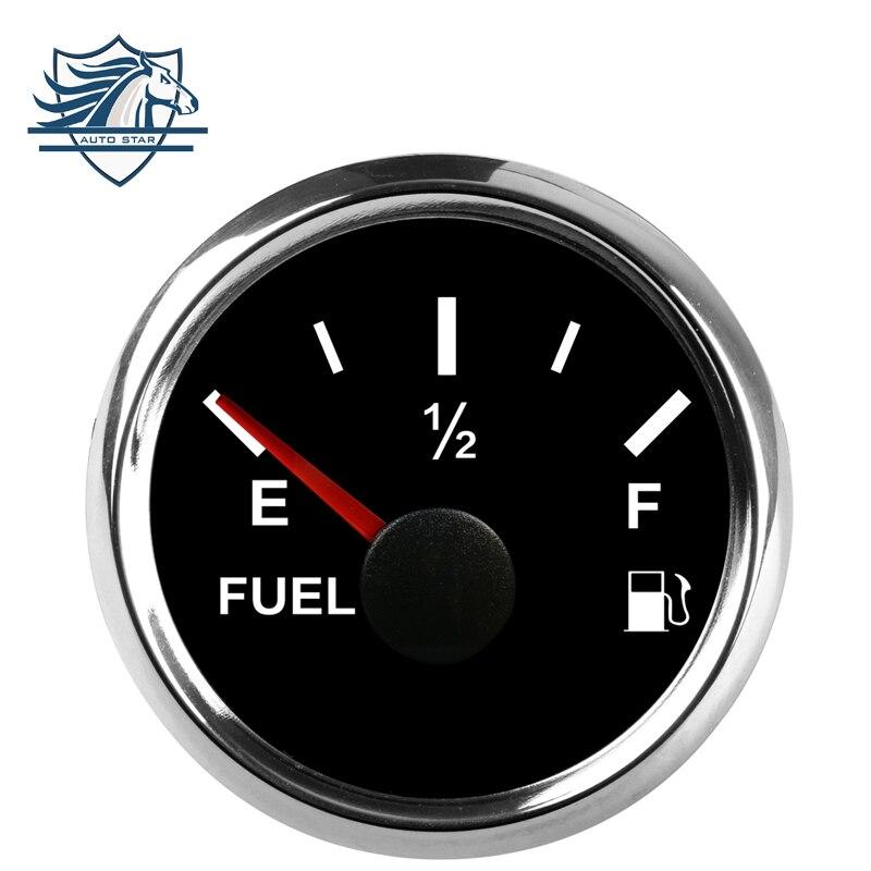 Gauges Back To Search Resultsautomobiles & Motorcycles 2 52mm Universal Auto Digital Fuel Level Gauge Meter Backlight 0-190ohm 12v/24v Chrome Bezel Black For Car/moto/truck Free Ship