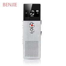 BENJIE 8GB Professional Mini Flash Digital Voice Recorder Dictaphone MP3 Music Player Support TF Card Built-in Loudspeaker
