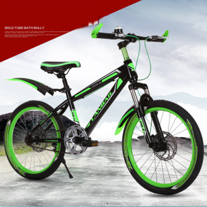 High-Grade Mountain Bike 18-Inch Shock Absorber Two-Disc Brake Children's Bicycle Road Bike