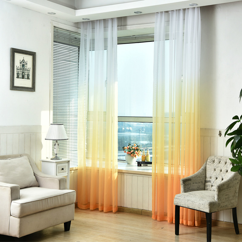 Curtain For Balcony: Modern Hotel Decoration Window Yarn Cortinas Living Room