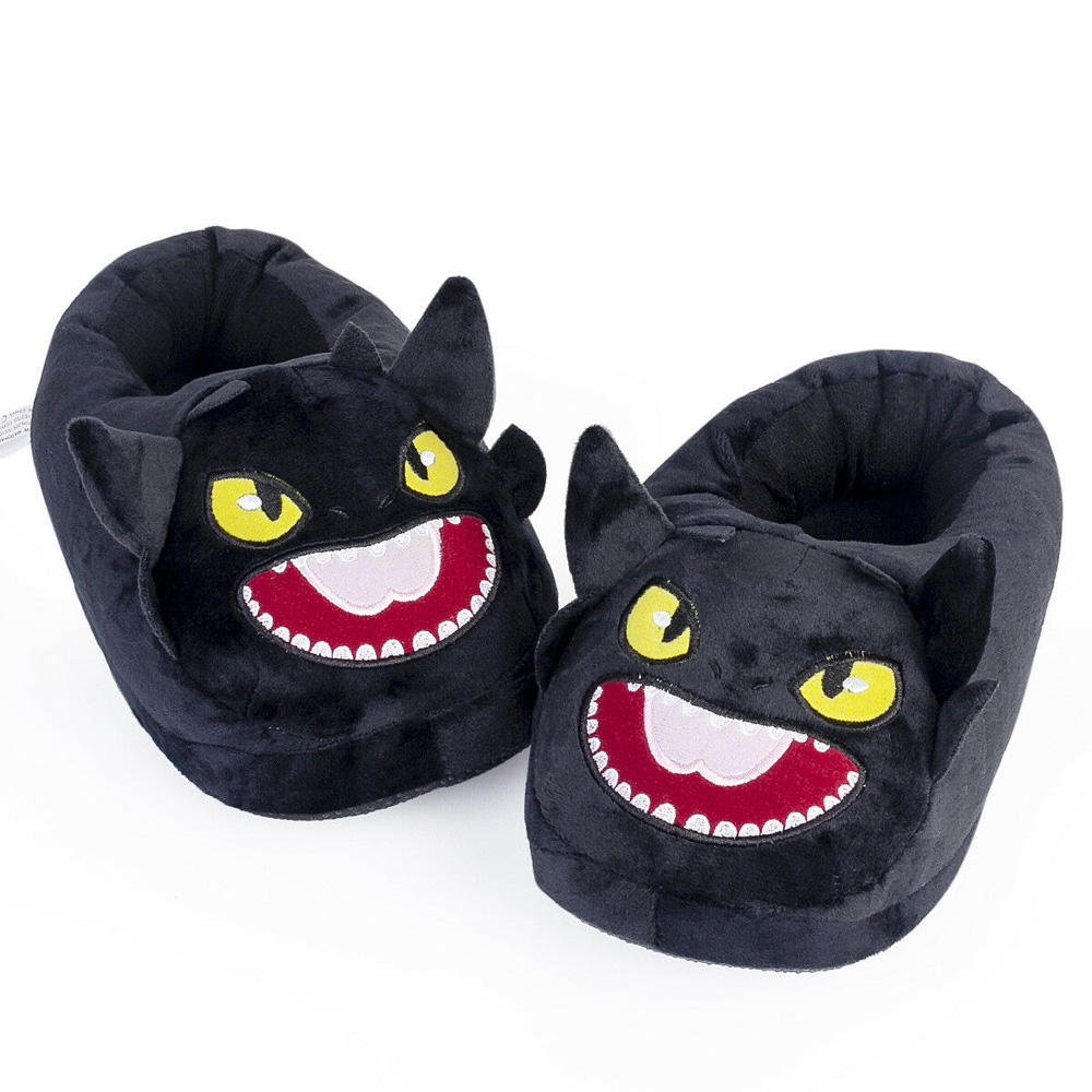 How To Train Your Dragon Plush Slipper Night Fury Toothless Plush Shoes Stuffed Slipper Winter Indoor Warm Slippers Cosplay Prop