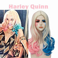 Christmas Party ECVTOP Suicide Squad Costume Wig Harley Quinn Accessories Ombre Two tone Ponytails Wig For Adult