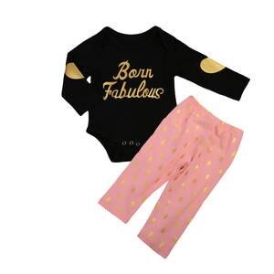 CANIS 2Pcs Sleeve Clothes Romper Bodysuit Pants Set Outfits e2a6884d7