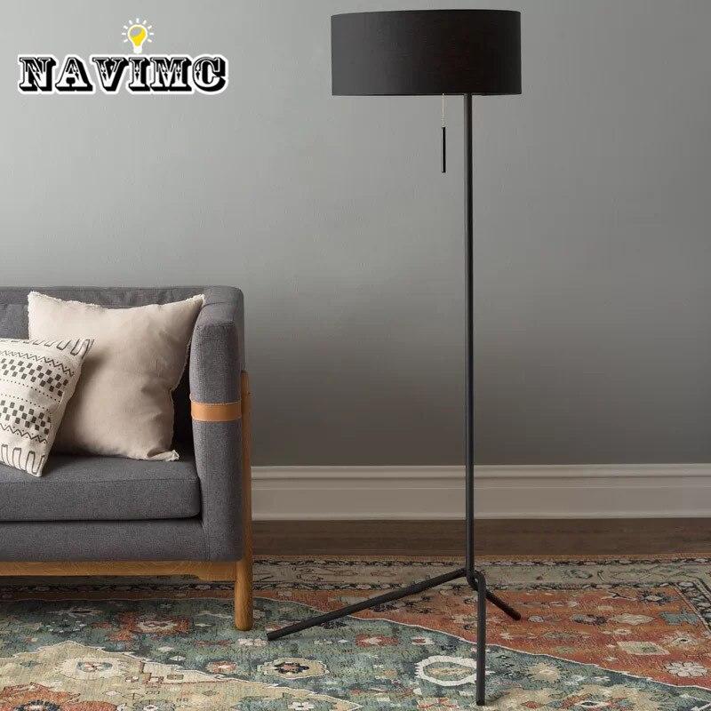 Современный минималистичный E27 светодиодный трехногий торшер черный для гостиной диван лампа балкон спальня лампы