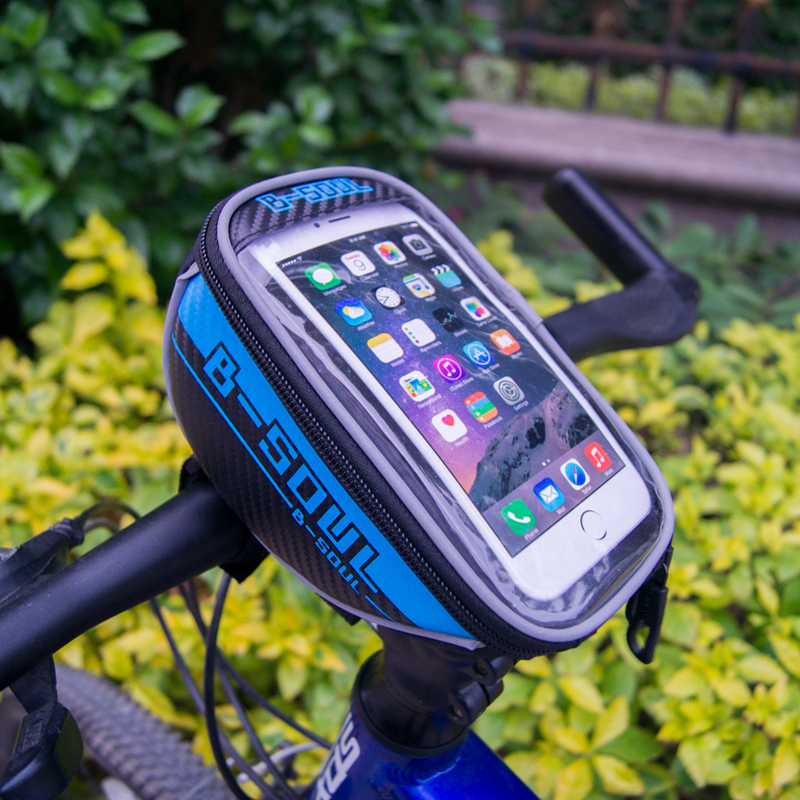 B-soul of the new public bicycle cycling 4.8 / 5.5 front pipes Trame red bag for iPhone 4 / 4S / 5 / 5S HTC Samsung