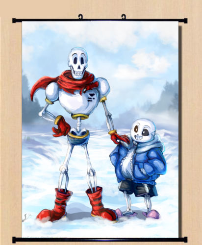 US $23 75 12% OFF|Anime Game Undertale Sans Papyrus Wall Scroll Home Decor  Poster Birthday 60x80CM -in Painting & Calligraphy from Home & Garden on
