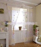 Новинка  оптовая продажа  занавески на окна с бабочками и цветочным принтом  занавески для спальни  гостиной