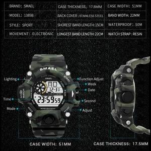 Image 3 - นาฬิกาผู้ชายดิจิตอลนาฬิกาสีขาวSMAELกีฬานาฬิกากันน้ำ50Mวันที่Relogio MasculinoดิจิตอลทหารนาฬิกาMens Sport