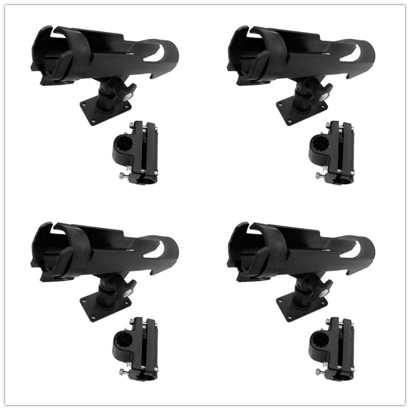 4 Pieces Side Boat Fishing Rod Holder Kayak Support Tools Accessories Pole Bracket Rod Pod for Marine