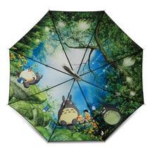 Large Anime Ghibli Long Totoro Umbrella Double Layers Cartoon Paraguas Totoro Mujer Guarda Chuva Totoro Parapluie For Totoro Fan
