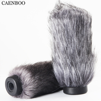 CAENBOO 18cm Outdoor Furry Fur Cover Windscreen Windshield Muff Microphone Deadcat Wind shields For RODE NTG3 NTG 3 Microphone