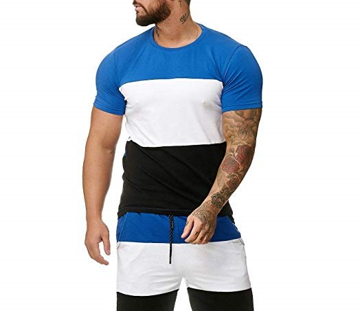 2019New Summer Hot Sale Men's Sets T Shirts+Shorts Two Pieces Sets Casual Tracksuit Male Casual Tshirt Fitness Trousers Men