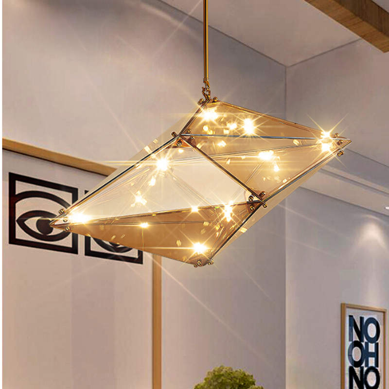 Nordic post modern geometric chandeliers dining glass faceted nordic post modern geometric chandeliers dining glass faceted diamond chandelier in pendant lights from lights lighting on aliexpress alibaba group mozeypictures Images
