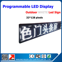 China Wolesale Outdoor P10 LED Module 1/4scan DIP White LED Display Screen LED Light Sign 32*128dots P10 LED Message Board