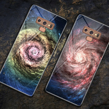 capa para note 9 Glass Case for Samsung Note Painted Pattern Tempered Back Cover case Coques