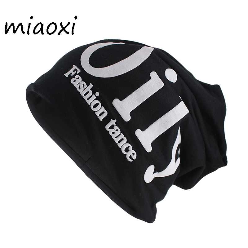 miaoxi High Quality Fashion Adult Winter Warm Hat Letter Cotton   Beanies     Skullies   Men Casual Knit Hats