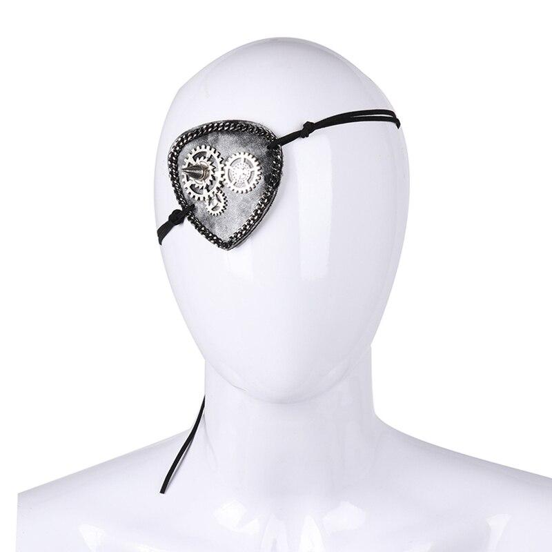 1pc Unisex Steampunk Gear Eye Patch Gothic Vintage Eye Masks Cosplay