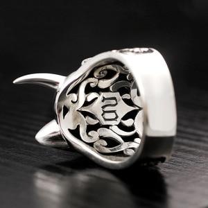 Image 2 - Zabra sólido 925 prata esterlina diabo crânio rosto grandes anéis para motociclista homem dominador steampunk hyperbolic festa gótico jóias