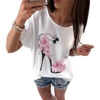 2017 Fashion Summer White T Shirt Women Casual Short Sleeve Brand Clothing T Shirt Pink High