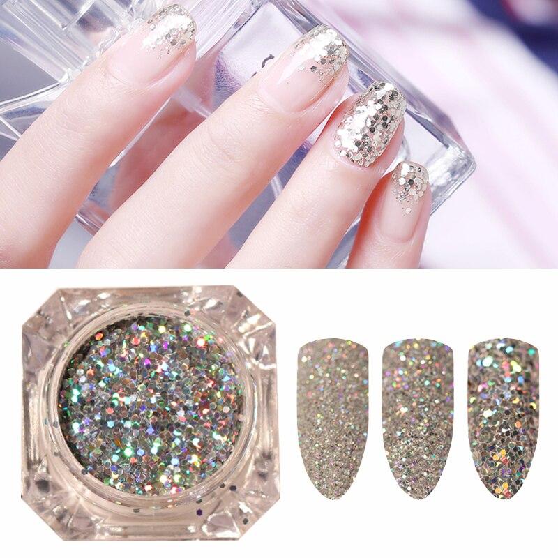 2017 New 1 Bottle Mini Hexagon Shape Laser Shining Nail: 1 Bottle Mini Hexagon Shape Laser Shining Nail Art Glitter