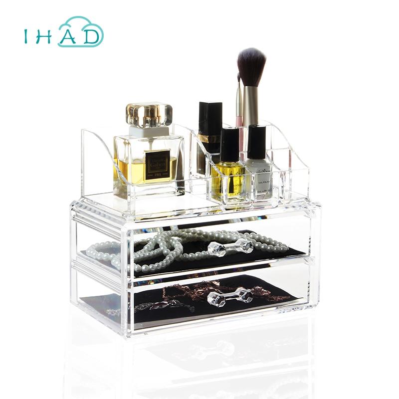 ღ Ƹ̵̡Ӝ̵̨̄Ʒ ღCristal acrílico cosméticos organizar maquillaje caja ...