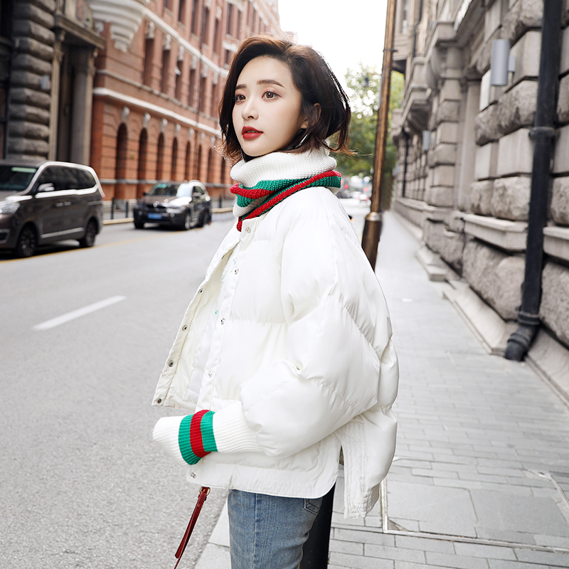 Jackets & Coats Hospitable Fashion Cotton Clothing Womens Short Winter Jacket White Black Grey New Korean Bread Thickening Parka Cotton Jacket Rapid Heat Dissipation Parkas