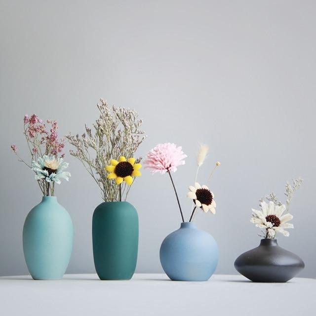 Aliexpress Buy Jamals Modern Ceramic Vase Mini Flower Vases