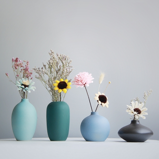 Jarr n de cer mica moderno jamal mini floreros para casas for Decoracion de casas hechas a mano