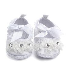 Delebao брендовая Прозрачная Кружевная детская обувь с кристаллами