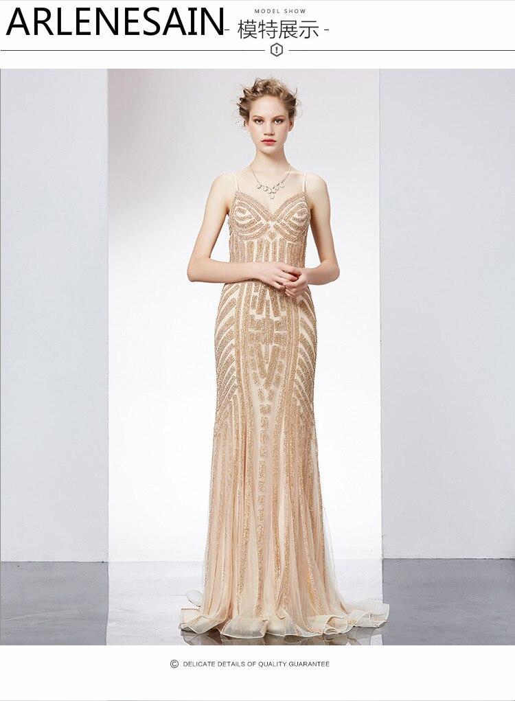 Arlenesain custom New noble and elegant fashion sexy host dress Slim long women dress
