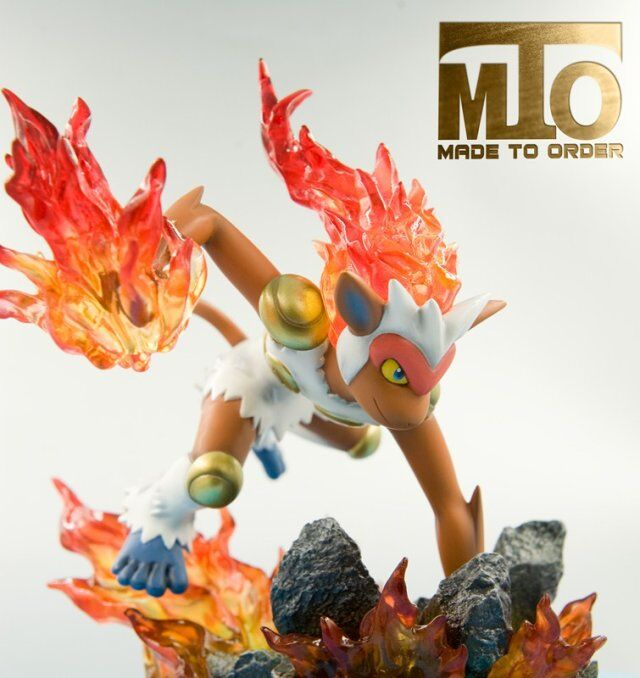 MODEL FANS IN-STOCK MTO 16cm pokemon Pocket Monsters Infernape GK resin made toy figure for Collection model fans in stock 23cm pokemon snorlax gk resin made figure toy for collection