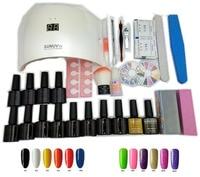 12 Colors Top And Base Coat Uv Gel Polish 24w SUN9S Uv Led Lamp Manicure Uv