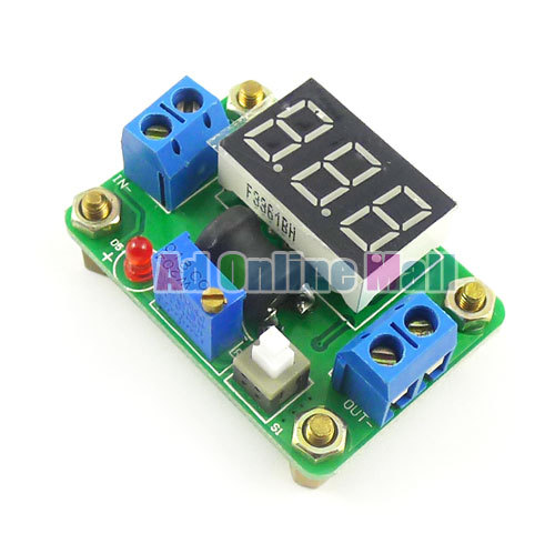 DC-DC Converter Buck Step Down Module with Voltmeter 4.5-24V to 0.93-20V