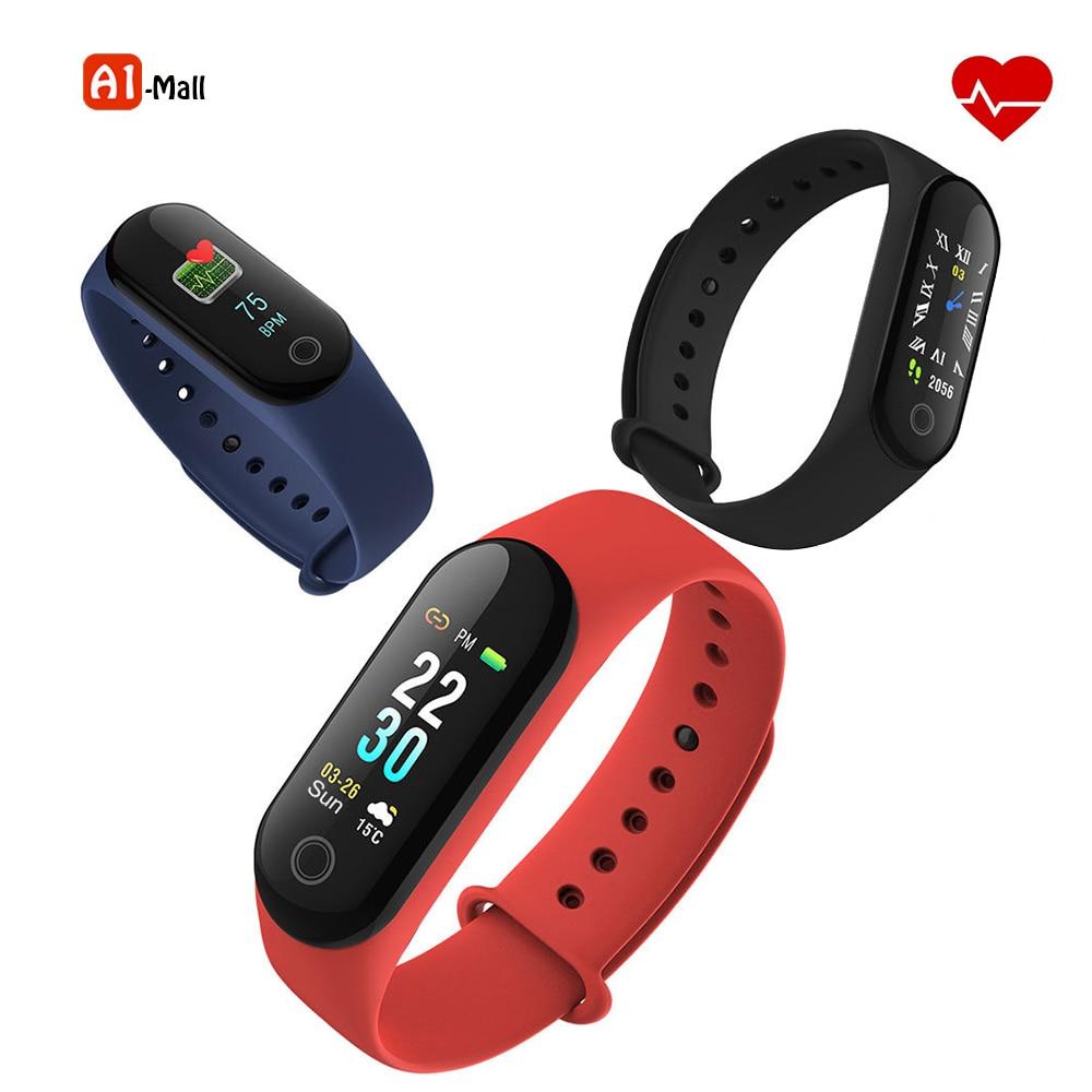 Smart Band Blood Pressure Heart Rate Monitor Wristband Fitness Sleep Tracker Smart Bracelet Watch Color Screen Band VS Mi Band 3