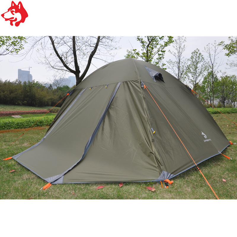6 people 7.9mm aluminum tent waterproof rainproof beach tent family outdoor party Blue/Army Green hiking traveling camping tent